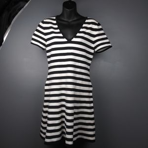 2/$25 Trina Turk Black and white stripe dress
